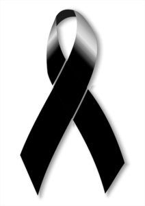simbolos de luto - lazo negro