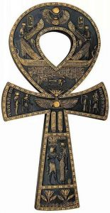 signo egipcio cruz ankh o cruz ansada, la llave de la vida.