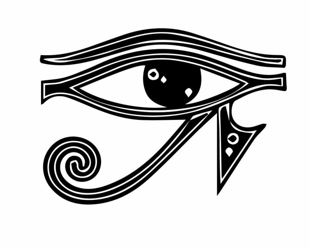 el ojo de ra símbolo egipcio