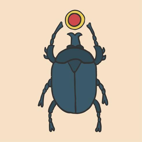 el escarabajo egipcio